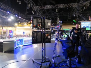NFL Network's Total Access set inside the NFL Experience at Super Bowl XLIX.