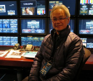 Tom Sahara inside NEP's SS24 A unit, the hub of Turner's All-Star Game production
