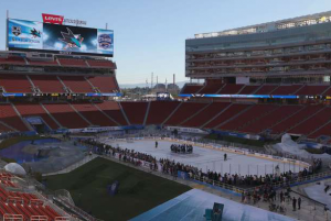 49ers Studios and Van agner Big Screen Network Productions will entertain nearly 70,000 fans at Levi's Stadium during Saturday's NHL Coors Light Stadium Series game between the Los Angeles Kings and the San Jose Sharks.