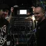 Beyoncé's Monitor Engineer, James Berry (l), and her FOH Engineer, Stephen Curtin (r).