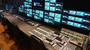 The 37VMU production room allows the visiting production team full access to all cameras and record trains from the A unit.