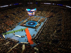 It all came down to a single mat during the finals, which aired on ESPN.
