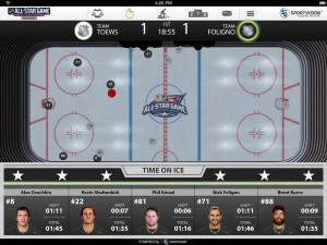 The NHL made its tracking data available to broadcast partners and the media during January's All-Star Game.