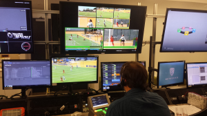 """An open """"bullpen"""" area allows for operators to work on everything from graphic insertion to advanced replay enhancements."""