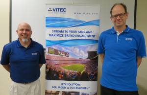 VITEC's Mark D'Addio (right) joined by Senior Marketing & Sales Operations Manager Geol Yeadon in the company's Sunnyvale, CA office.