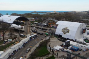 The NFL's Draft Town in Chicago's Grant Park