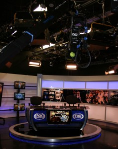 The studio's desk arrived in 2013 as part of Fox's standardization across its RSNs.