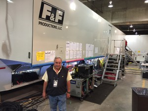 Bill McKechney, Vice President of Engineering at F&F Productions in front of the company's newest production truck, GTX-17.