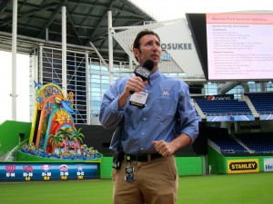 Larry Blocker, senior director, game presentation and events, Miami Marlins