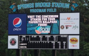 Daktronics installed a  new LED video display and scoreboard at Spring-Brooks Stadium in Conway, SC.