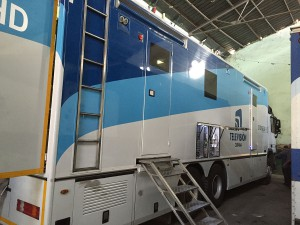 The RTV Comercial mobile unit on hand in Havana