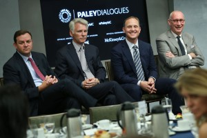 (l-to-r) Mark Lazarus, Sean McManus, Eric Shanks, and John Skipper shared the stage at the Paley Center earlier this week to discuss the current state of sports TV.