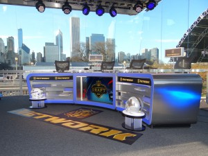 NFL Network's set in Draft Town was designed by Filmwerks
