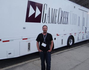 Game Creek Video's George Bailey at NFL Network's truck compound
