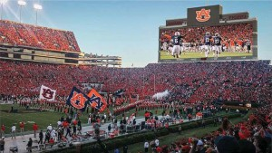 The new video board at Jordan-Hare Stadium will measure approximately 57 feet high by 190 feet wide and be comprised of more than 8.7 million LEDs.