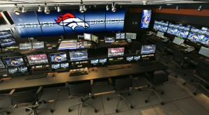 The video-control room at Sports Authority Field at Mile High