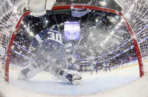 In-net cameras are among the many robotic units utilized on NBC Sports' coverage of the Stanley Cup Final.