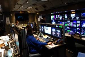 The main production area inside Game Creek Video's Encore A unit will be busy with excitement during the U.S. Open next week.