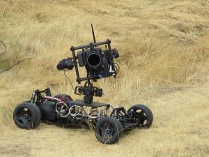 The Freefly Tero miniature remote controlled camera system on the 18th fairway.