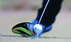 Playing back a tee shot at 62,000 frames makes the ball look like a water balloon as it is compressed and changes shape.