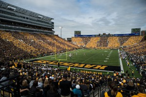 Kinnick Stadium upgraded its audio system with new desk pair for FOH and BOH.