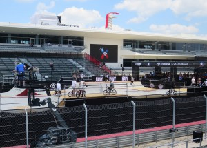 One of four scissor lifts on hand at COTA - shown here at Park/Street venue.
