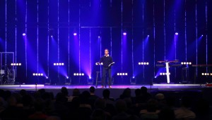 NORTHchurch Pastor Rodney Fouts delivers his message loud and clear via the new DiGiCo/L-Acoustics