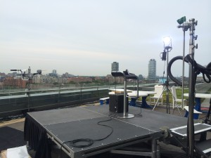 ESPN added an addtional set area for live hits, with the Toronto skyline as the backdrop.