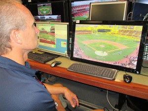ESPN Visual Technologies creates a 3D diagram of the entire ballpark for its Derby coverage.