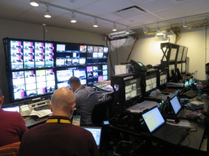 ESPN's control room inside the IBC