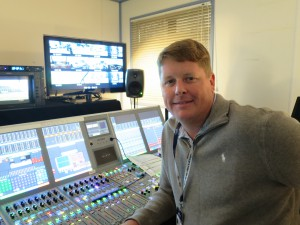 Jamie McCombs is lead audio mixer for this weekend's coverage of The Open on ESPN.