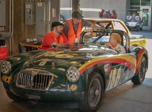 Executive Producer Stephen Brent Jenkins (left) and Director Randall P. Dark recently completed a program that looked into the world of vintage car racing enthusiasts.