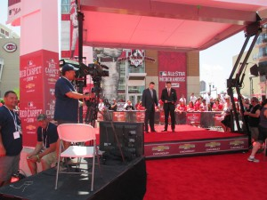 All-Star Red Carpet Show featured a revamped set and easily struck Filmwerks Z-stage.