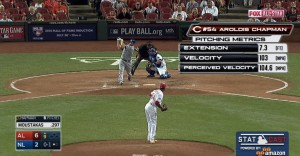 Aroldis Champman received the Statcast treatment during Fox's All-Star coverage.
