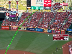 Mike Trout's game lead-off home run Statcast replay package