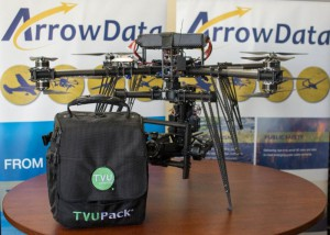 TVU Networks partnered with ArrowData, an aerial data services company that specializes in the use of unmanned aerial vehicles (UAV's - or drones) for electronic newsgathering.