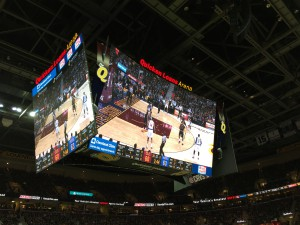 Besides being the largest in the U.S., Quick Loans Arena's center-hung videoboard is designed to be seen from every seat in the house.