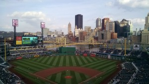 On the bank of the Allegheny, PNC Park has converted its scoreboard to HD.