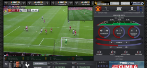 Desktop version of NBC Sports Live Extra offers synchronized stats and an animated box score.