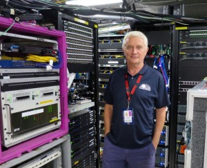 Kevin Moorhouse, Gearhouse Broadcast, COO, inside the ESPN U.S. Open technical facility.