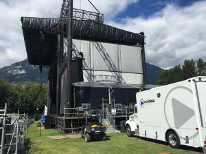 Opus can be used as a standalone unit for smaller shows, such as the Squamish Valley Music Festival.