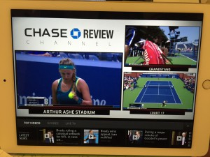 Early in the US Open, WatchESPN offered access to all televised courts.