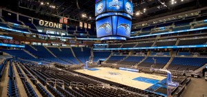 Amway Center is home to the Orlando Magic basketball, as well as to other sports and concerts.