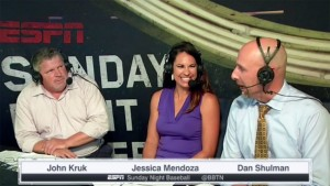 In addition to high-tech production tools, ESPN's AL Wild Card telecast will feature Jessica Mendoza as the first female analyst to call a nationally televised MLB postseason game.