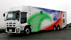 One of two new NHK 8K trucks
