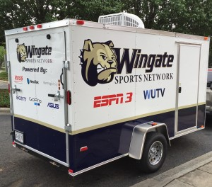 The Wingate Sports Network will produce a bevy of events live for ESPN3 from a small production trailer.