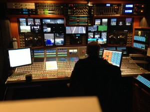 NBC Sports A1 Denis Ryan at the audio console