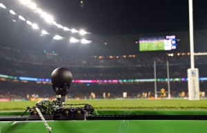 The Q3 mini camera-tracking system made its debut at Rugby World Cup matches at Twickenham Stadium.
