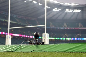 Two tracking systems were used for RWC matches at Twickenham, one behind each goal.