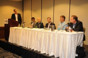 University of Notre Dame's Scott Rinehart moderates a panel at last year's SAMS Workshop at the SVG Summit